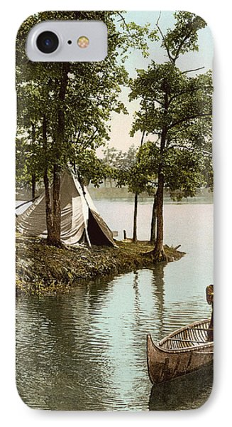 Hiawatha's Arrival IPhone Case by Underwood Archives