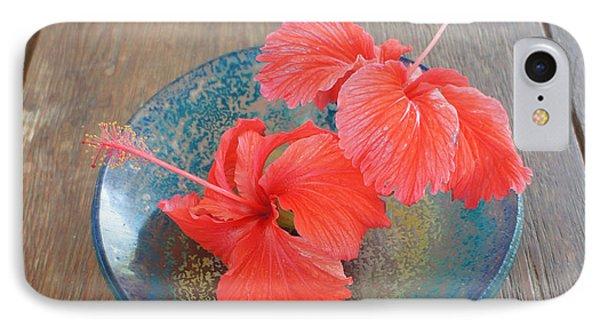Hibiscus #4 Phone Case by Chikako Hashimoto Lichnowsky