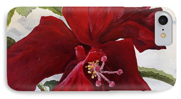 Double Hibiscus IPhone Case by Alan Lakin