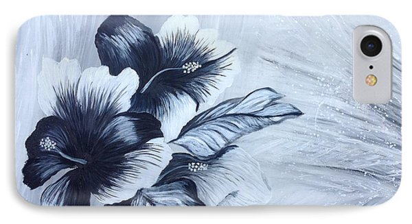 Hibiscus  Black And White IPhone Case