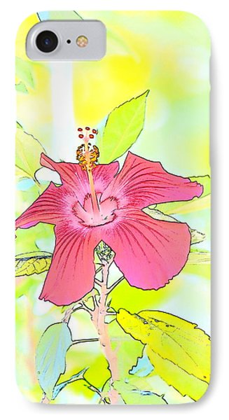 IPhone Case featuring the photograph Hibiscus Dream 2 by Cathy Shiflett