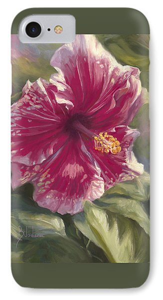 Hibiscus In Bloom Phone Case by Lucie Bilodeau