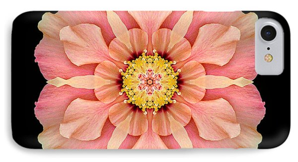 Hibiscus Rosa-sinensis I Flower Mandala IPhone Case by David J Bookbinder