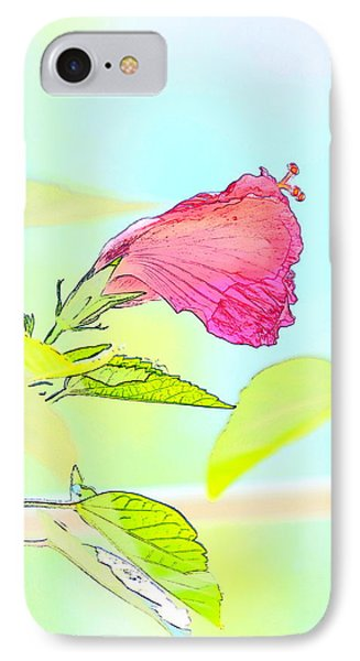 IPhone Case featuring the photograph Hibiscus Unbloomed by Cathy Shiflett