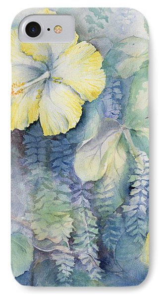 Hibiscus, Yellow IPhone Case by Karen Armitage