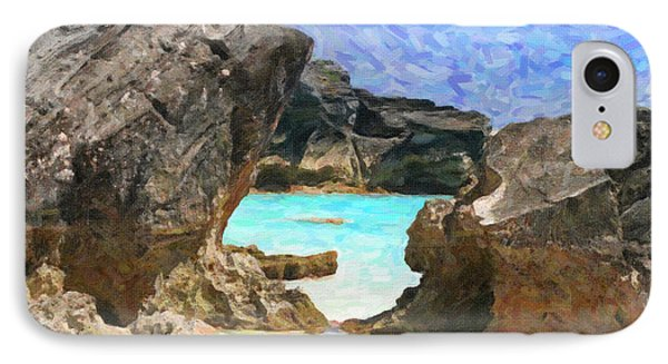 IPhone Case featuring the photograph Hidden Beach by Verena Matthew