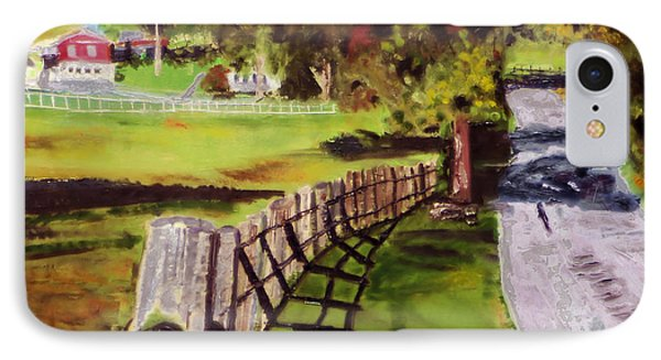 IPhone Case featuring the painting Hidden Brook Farm by Michael Daniels
