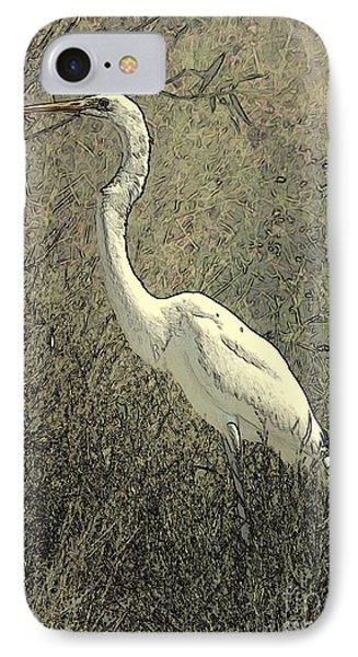 Hidden Egret Phone Case by Carol Groenen