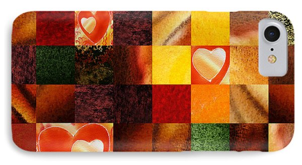 Hidden Hearts Squared Abstract Design IPhone Case by Irina Sztukowski