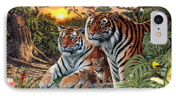 Hidden Images - Tigers Phone Case by Steve Read