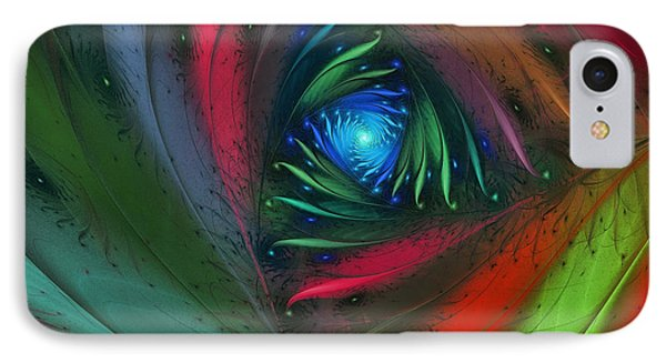 Hidden Jungle Plant-abstract Fractal Art IPhone Case by Karin Kuhlmann