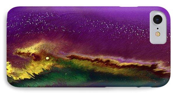Hidden Moon Fluid Art By Kredart IPhone Case by Serg Wiaderny