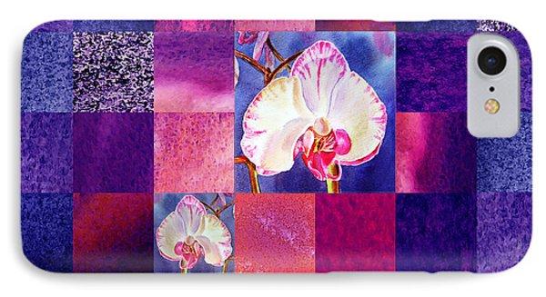Hidden Orchids Squared Abstract Design IPhone Case by Irina Sztukowski
