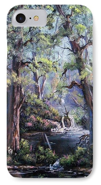 IPhone Case featuring the painting Hidden Waters by Megan Walsh