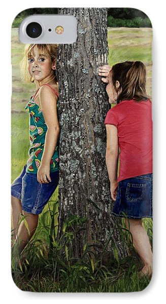 IPhone Case featuring the painting Hide And Seek by Glenn Beasley