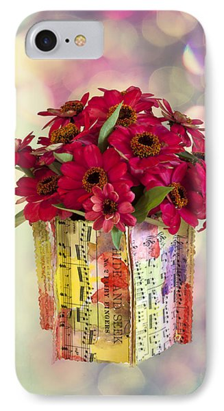 IPhone Case featuring the photograph Hide And Seek Zinnias by Sandra Foster
