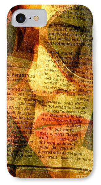 Hiding From The News IPhone Case by Michael Cinnamond