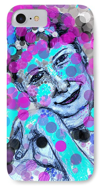 IPhone Case featuring the drawing Hiding In My Bubbles by Sladjana Lazarevic