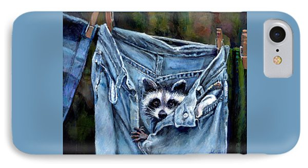 Hiding In My Jeans IPhone Case by Donna Tucker