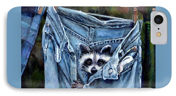 Hiding In My Jeans Phone Case by Donna Tucker