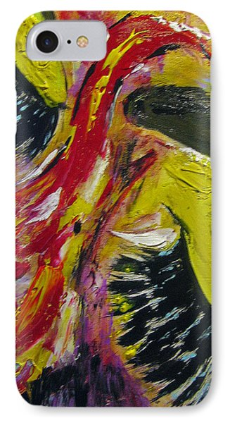 IPhone Case featuring the painting Hier Au Cirque by Lucy Matta
