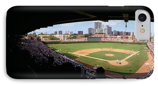 High Angle View Of A Baseball Stadium IPhone Case