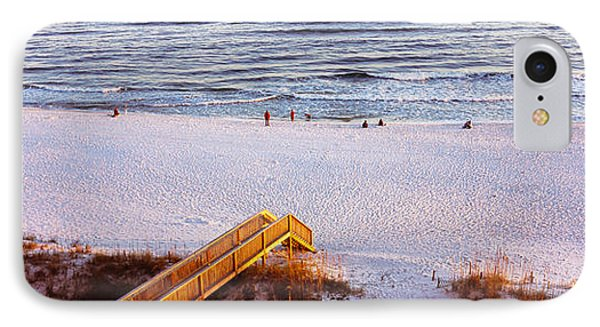 High Angle View Of A Beach, Gulf IPhone Case by Panoramic Images
