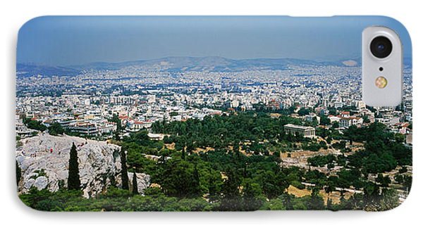 High Angle View Of A City, Acropolis IPhone Case