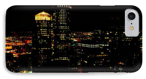 High Angle View Of A City At Night IPhone Case by Panoramic Images
