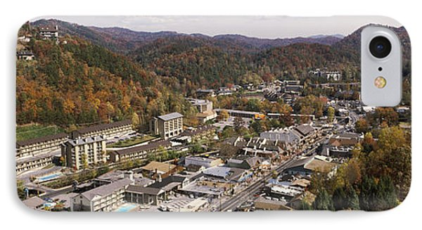 High Angle View Of A City, Gatlinburg IPhone Case by Panoramic Images