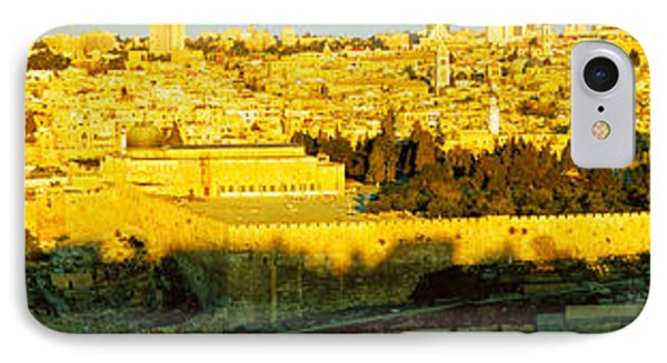 High Angle View Of A City, Jerusalem IPhone Case by Panoramic Images