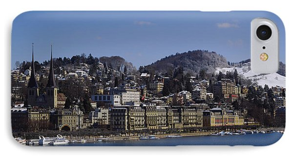 High Angle View Of A City, Lucerne IPhone Case by Panoramic Images