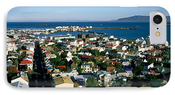 High Angle View Of A City, Reykjavik IPhone Case