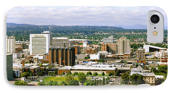 High Angle View Of A City, Spokane IPhone Case by Panoramic Images