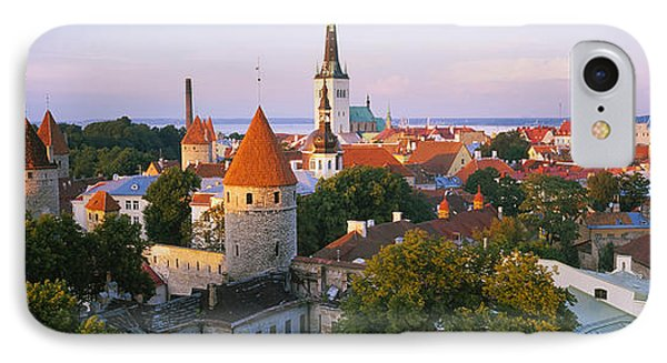 High Angle View Of A City, Tallinn IPhone Case by Panoramic Images