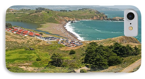 High Angle View Of A Coast, Marin IPhone Case