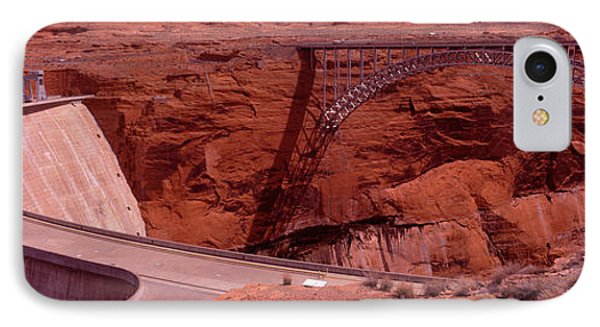High Angle View Of A Dam, Glen Canyon IPhone Case