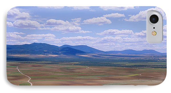 High Angle View Of A Dirt Road Passing IPhone Case by Panoramic Images