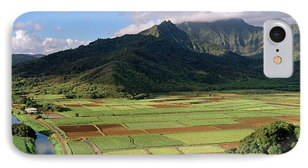 High Angle View Of A Field IPhone Case by Panoramic Images