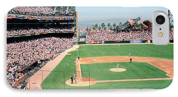 High Angle View Of A Stadium, Pac Bell IPhone Case