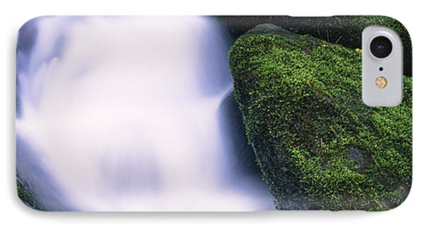 High Angle View Of A Waterfall, Roaring IPhone Case by Panoramic Images