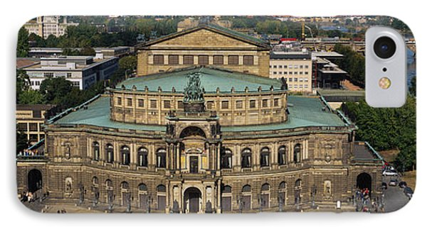 High Angle View Of An Opera House IPhone Case