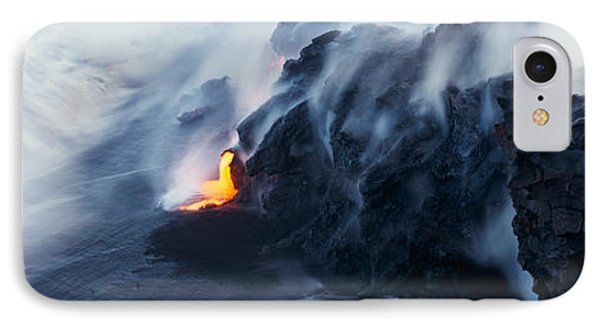 High Angle View Of Lava Flowing IPhone Case