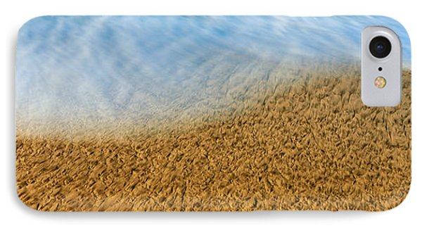 High Angle View Of Waves On The Beach IPhone Case