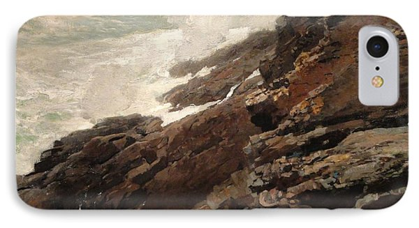 High Cliff Coast Of Maine 1894 Phone Case by Philip Ralley