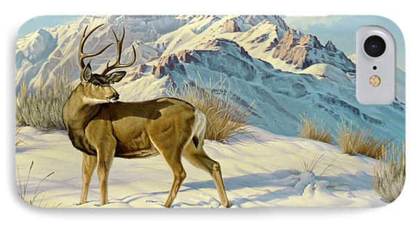 High Country Buck IPhone Case by Paul Krapf