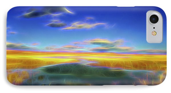 IPhone Case featuring the digital art High Desert Lake by William Horden