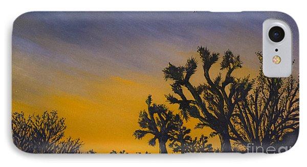 IPhone Case featuring the painting High Desert Twilight by Suzette Kallen