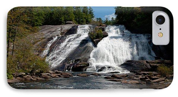 High Falls North Carolina IPhone Case by Charles Beeler