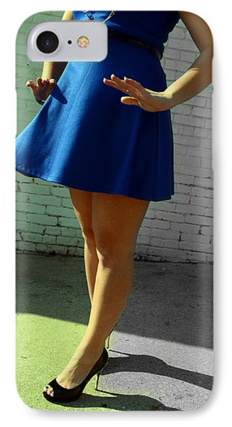 High Heels And A Blue Skirt IPhone Case